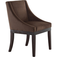 Monarch Wingback Dining Chair with Spring Cushioned Seat, Chocolate Velvet