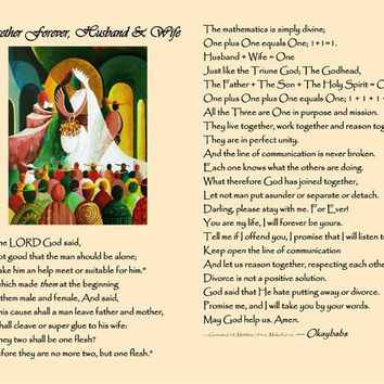Together Forever Poem (Print Only, Without the Frame)