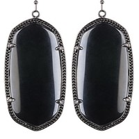 Danielle Gunmetal Earrings in Black - Kendra Scott Jewelry