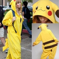 Hot Unisex Adult/ Children Kigurumi Pajamas Anime Cosplay Costume Onesuit pikachu TQ