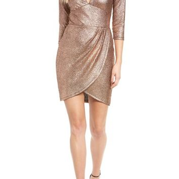 Leith Metallic Body-Con Dress | Nordstrom