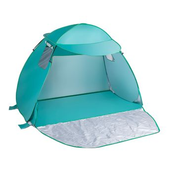 3-4 Person Pop Up Beach Tent w/ Free Sunshade Cover for Camping