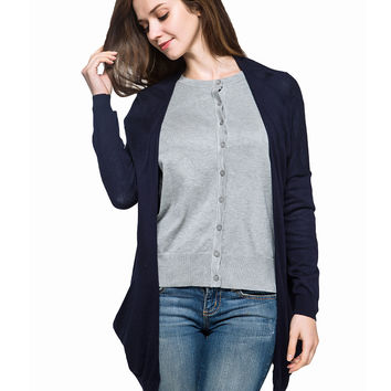 Spring Summer Autumn Thin Loose Long Cotton Women Female Plus Size Long Sleeve Sun Protection air conditioning Sweater Cardigan