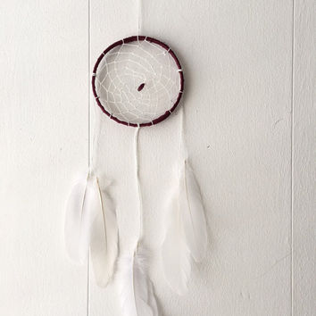 White dreamcatcher Bohemian dreamcatcher White dream catcher Boho dreamcatcher Baby room wall decor Bohemian wall hanging Nursery wall decor
