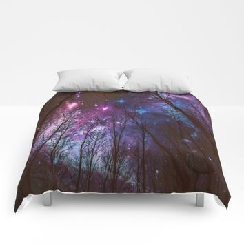 Black Trees Dark Space.  Comforters by 2sweet4words Designs