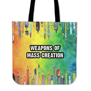 Mass Creation Linen Tote Bag