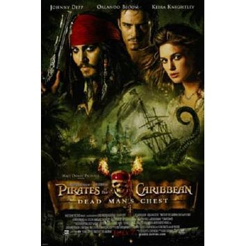 Pirates Of The Caribbean Dead Man's Chest Movie poster Metal Sign Wall Art 8in x 12in
