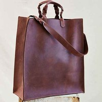 Forager Co. Braid Remnant Tote Bag- Brown One