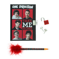One Direction Mini Padlocked Diary and Pen