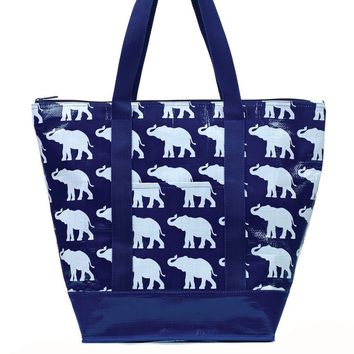 Toss Elephant Parade Tag-a-Long Tote - Navy/ White