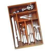 Lipper International Bamboo Silverware Organizer