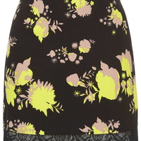 Flower Print Mini Skirt - Topshop