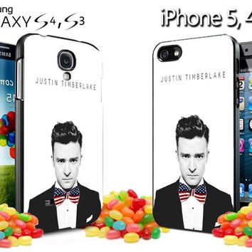 justin timberlake america bow tie iPhone Case and Samsung Galaxy Case