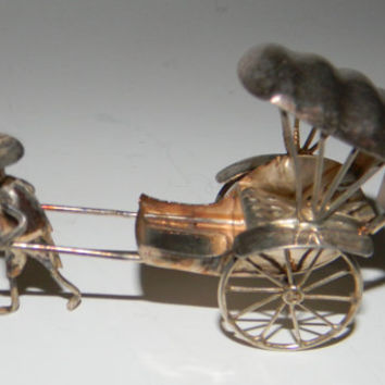 Vintage silver Miniature Figurine British Colony by FeliceSereno