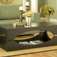 Furniture of America Somer Rectangular Coffee Table, Cappuccino