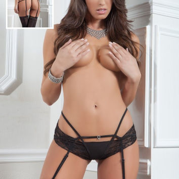 Strappy Cheekini & Stockings Designer G-World Intimates
