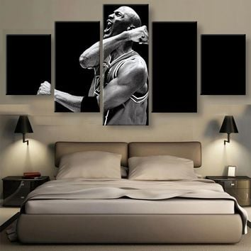 5 Panel Michael Jordan Basketball Professional Athletes Modern Home Wall Decor Canvas Picture Art HD Print Painting Canvas Art