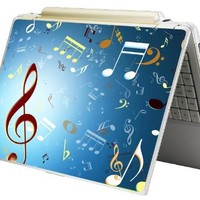 """Bundle Monster Laptop Notebook Skin Sticker Cover Art Decal - 12"""" 14"""" 15"""" - Fit HP Dell Asus Compaq - Music Notes"""