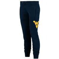 Women's Navy West Virginia Mountaineers Nelson Cuffed Sweatpants