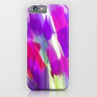 Meadow Flowers Abstract 2 iPhone & iPod Case by Jen Warmuth Art And Design
