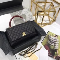 Chanel coco handle Lizard pattern handle Bag