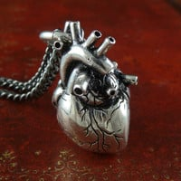 Valentines Day Heart Jewelry Anatomical Heart by LostApostle