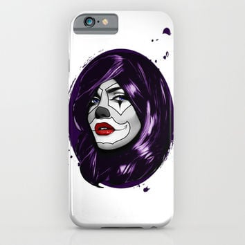 Clown Girl iPhone & iPod Case by Nicklas Gustafsson