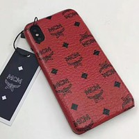 MCM New Fashion Letter Pattern Print Couple Personality Phone Case Protective Case  Red