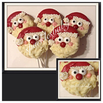Santa Claus Christmas Chocolate Oreo Lollipops - Set of 12 Santa pops
