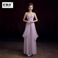 2017 In Stock Convertible Bridesmaid Dresses Long Wedding Guest Gowns Lilac Maid of Honor Dress Under 50
