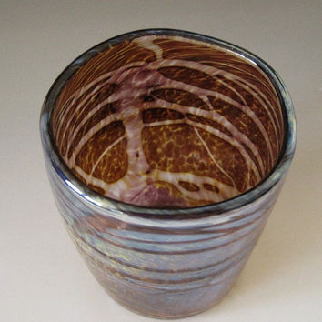Hand Blown Drinking Glass Tumbler by HorkoverGlass on Etsy