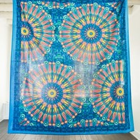 Online Only Blue and Yellow Bursts Tapestry