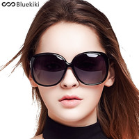 Women Polarized Sunglasses Retro Big Round PC Frame Design Black Sun Glasses Luxury Driving gafas de sol