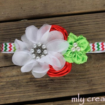 Christmas baby Headband, baby headbands,Baby Headband,newborn headband,Christmas Hair Bow, Christmas Headband, Christmas Headbands, girl bow