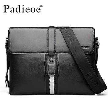 Men's genuine leather shoulder bag famous crossbody bags fashion design leisure purse for male