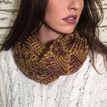 Two Toned Infinity Scarf
