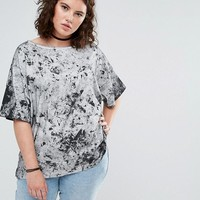 ASOS CURVE T-Shirt in Abstract Tie Dye at asos.com