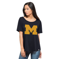 '47 University of Michigan Wolverines Fall Navy Boyfriend Tee
