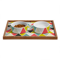 Heather Dutton Triangulum Pet Bowl and Tray