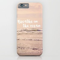 breathe in the ocean iPhone & iPod Case by Sylvia Cook Photography