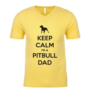 Keep Calm I'm A Pitbull Dad Men's V Neck