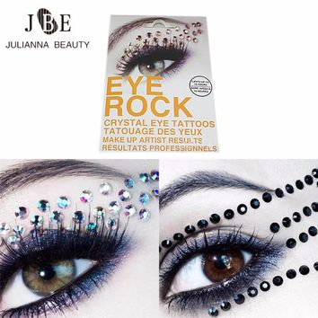 1 Pair Jewel Eyes Makeup Crystal Eyes Sticker Tattoo Diamond Makeup Eyeliner Party Eyeshadow Face Sticker Decoration Cosmetic