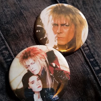 Your choice Labyrinth movie David Bowie pins pin badge pinback button hand pressed 2-1/4 inch pin retro fashion pingame strong