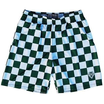 Hunter and White Checkerboard Lacrosse Shorts