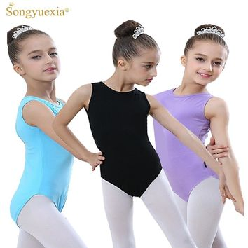 SONGYUEXIA Sleeveless Gymnastics Ballet Leotards for Girls Ballet Costumes Kids  Ballerina Bodysuit  Dancewear Ballet Jumpsuit