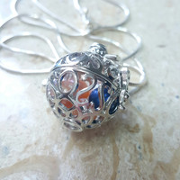 Filigree Pearl Cage Pendant Necklace - Holds up to 7+ Pearls!