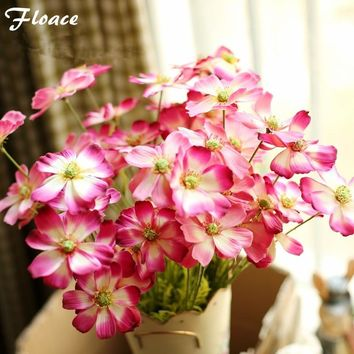 Floace 11pcs/lot Artificial flowers fake Cosmoses lifelike silk flowers for Wedding home decoration centerpiece flowers Party