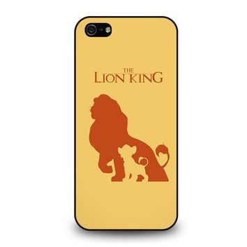 the lion king simba disney iphone 5 5s se case cover  number 1