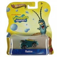 Plankton Hot Wheels Spongebob Squarepants DIE Cast Vehicle Car Nickelodeon Y0761