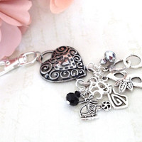 50 Shades inspired Key Chain Purse Charm or Backpack Chain and Charm